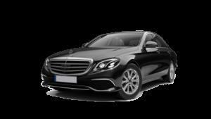 Picture of a black Mercedes E class