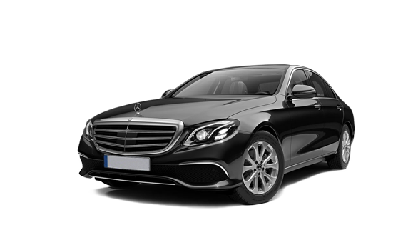 Picture of a black Mercedes E class