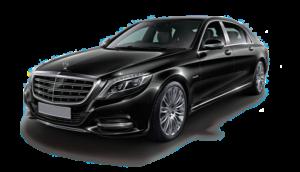 Picture od black Mercedes S class