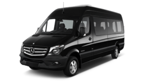 picture of a black mercedes sprinter
